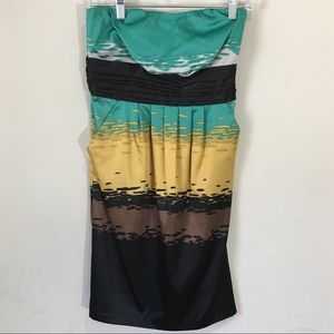The limited color block strapless dress size 0